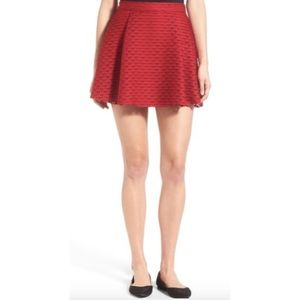 2/$20 🛍️ Lush Red Pleated Fit & Flare Miniskirt
